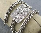 Chainmail Bracelet Sterling Silver Handmade Antiqued Jewelry - Series No. 1 - Designer Fashion Jewelry Jennifer Casady
