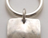 Silver Square Keyring made From Vintage American Half Dollar Coin