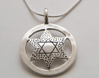 Star of David Pendant made from Silver US Liberty Quarter