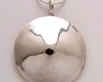 Silver Circle Pendant Made from Vintage US Silver Half Dollar Coin