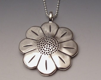 Daisy Dollar Pendant made from Morgan Silver Dollar Coin