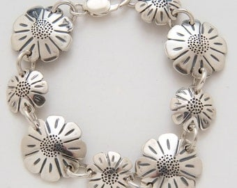 Daisy Dimes Quarters Bracelet made from Vintage Silver American Coins