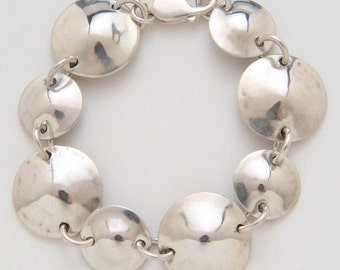 Circle Dimes Quarters Bracelet made from Vintage Silver American Coins