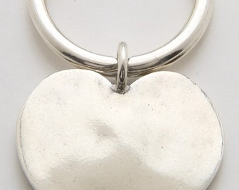 Silver Heart Keyring made From Vintage American Half Dollar Coin