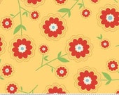 Delighted Fabric Red Floral with Yellow from Riley Blake Designs 1 Yard New