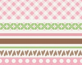 Sew Cherry Fabric Wide Pink Stripe 1 Yard by Riley Blake Designs  New