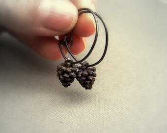 Wee Pinecone earrings