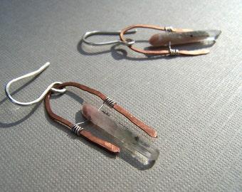 Lucky earrings in copper