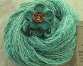 Mermaids Nest Handspun and Dyed Wool\/Angora\/Acrylic Yarn 53.9 grams FREE SHIPPING IN U.S.