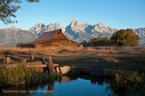 Grand Tetons, Barn at Sunrise