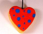Mini Clay Doodle - Tiny Polka Heart