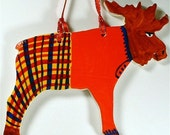Mister Moose in Plaid Pants ornament