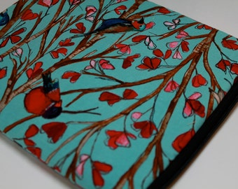 "Water Resistant 15"" MacBook Pro, 15"" Retina Display, Asus, Dell, HP, Custom sizes, 14"" Laptop Sleeve Case Cover - Padded - Birds"