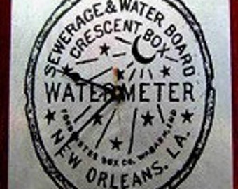 New Orleans Watermeter clock