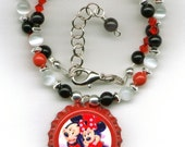 Minnie Mickey Mouse Boutique Bottle Cap Necklace