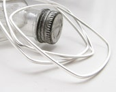 Square Bangles Silver Dipped - Trio of Bracelets - Three Narrow Geometric Stacking Bangles by Queens Metal
