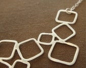 Mina Necklace - Delicate Sterling Silver Squares