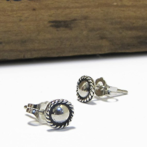 Boho Studs - Post Stud Earrings in Sterling Silver by Queens Metal