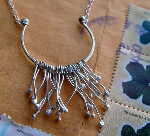 CYBER MONDAY SALE Sprout Necklace in Sterling Silver