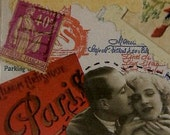 Amour A Paris, ACEO Original Collage , Made in France, Free Postage