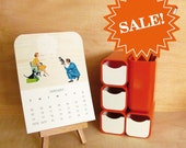 SALE - cabin and cub 2011 desk calendar