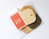 Wood Gift Tag Set - Set of 12 Tags