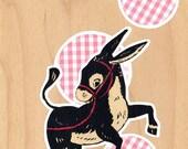 Cute Original Collage - dancing donkey