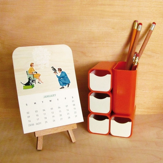 cabin and cub 2011 desk calendar