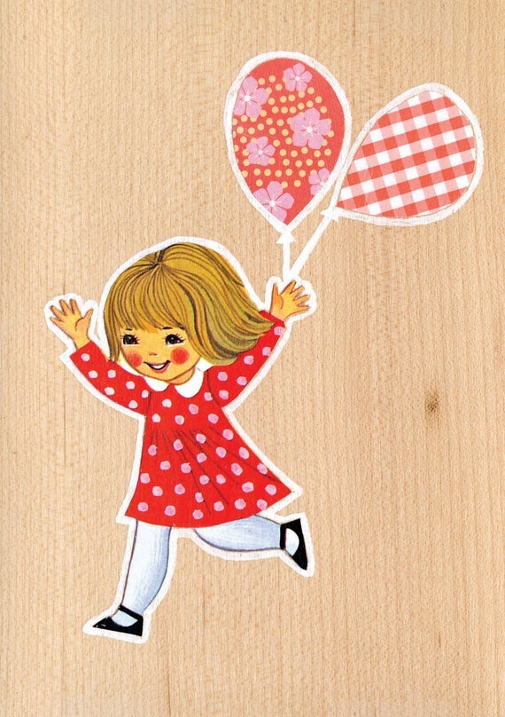 Girl and Balloons - Limited Edition Print