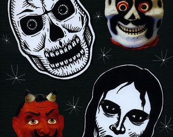 Four Fiends - Limited Edition ACEO Print Canvas