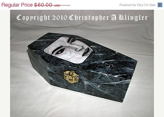 ON SALE Twilight Edward Cullen Coffin - Jewelry Box