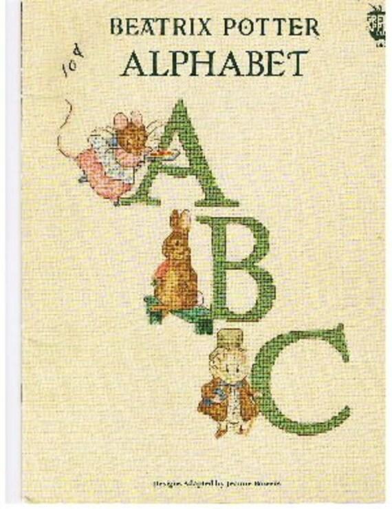 Beatrix Potter Alphabet Letters Cross Stitch