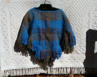 Handspun, handwoven poncho