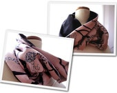 DIY - Fabric and Fleece Infinity Scarf and Neck Warmer 2 sizes Sewing Pattern Tutorial PDF Download