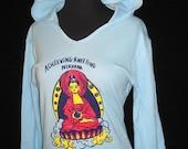 Knitting T-Shirt - Hoodie - Buddha Light blue