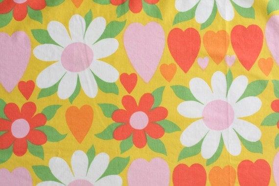 Vintage Sheet Fat Quarter - Yellow Sweet