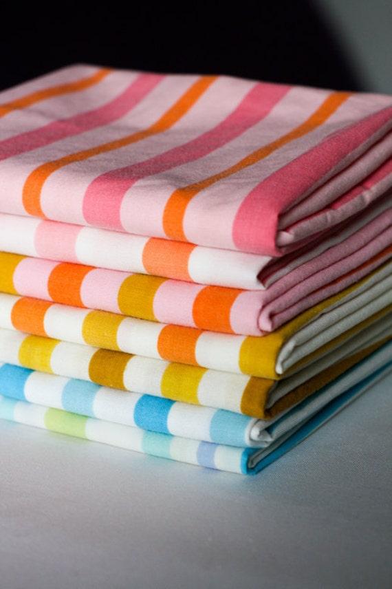 Vintage Sheet Stripes Fat Quarter Bundle