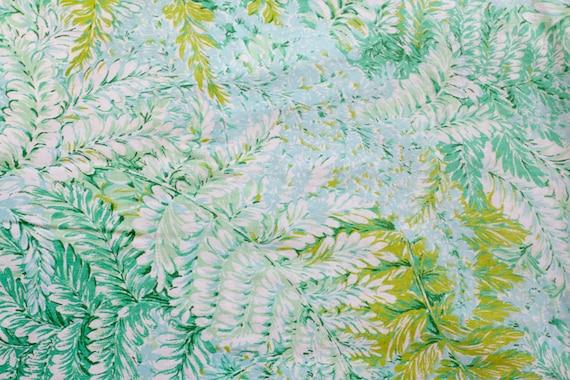 Vintage Sheet Fat Quarter - Green Fern