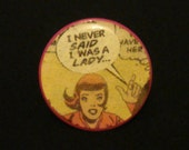 i never said i was a lady comic book cocktail ring size 7