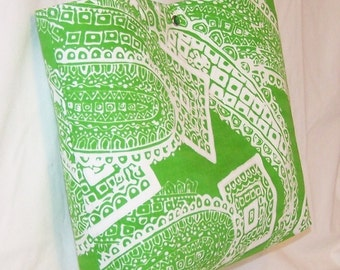 Green Paisley Vintage Fabric purse tote Bags by April SALE