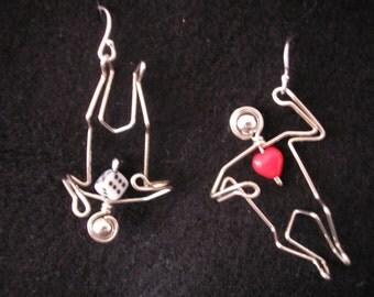 Love is a Crap Shoot earrings