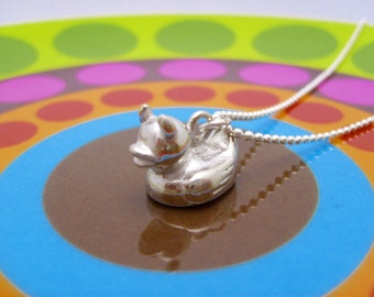Evil rubber ducky necklace