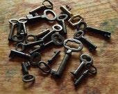Ten Antique Skeleton Keys - Custom