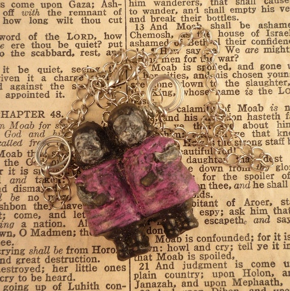 Pink Spooky Twin Girls Pendant by Ugly Shyla