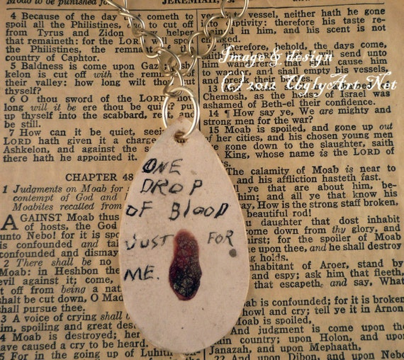 One Drop Of Blood Just For Me REAL menstrual blood crackle necklace