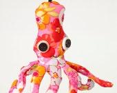 Eco Octopus Pink Ornament OOAK
