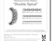 Chain Tutorial - Double Spiral Pattern - PDF