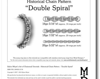 Chain Tutorial - Double Spiral Pattern - PDF