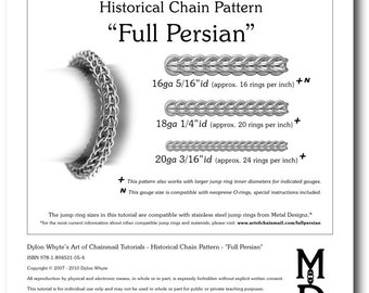 Chain Tutorial - Full Persian Pattern - PDF