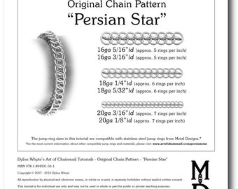 Chain Tutorial - Persian Star Pattern - PDF